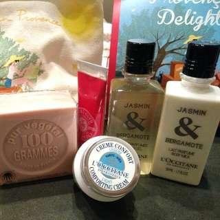 LOCCITANE Travelling Body Skin Care Pack Brand New!