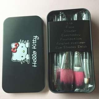 (bnib) hello kitty makeup brushes
