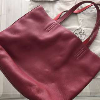 Authentic Hermes Double-sided (two-tones) Versatile Large Leather Tote Bag