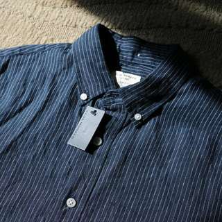 Club Monaco Linen Oxford Shirt  Original Price: $97