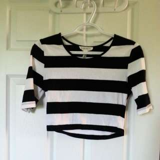 Forever 21 Stripped Crop top