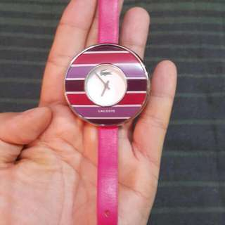 Repriced- Lacoste Ladies Watch Pink