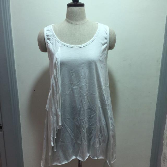 棉質長版造型背心