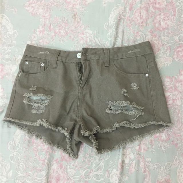 墨綠牛仔短褲