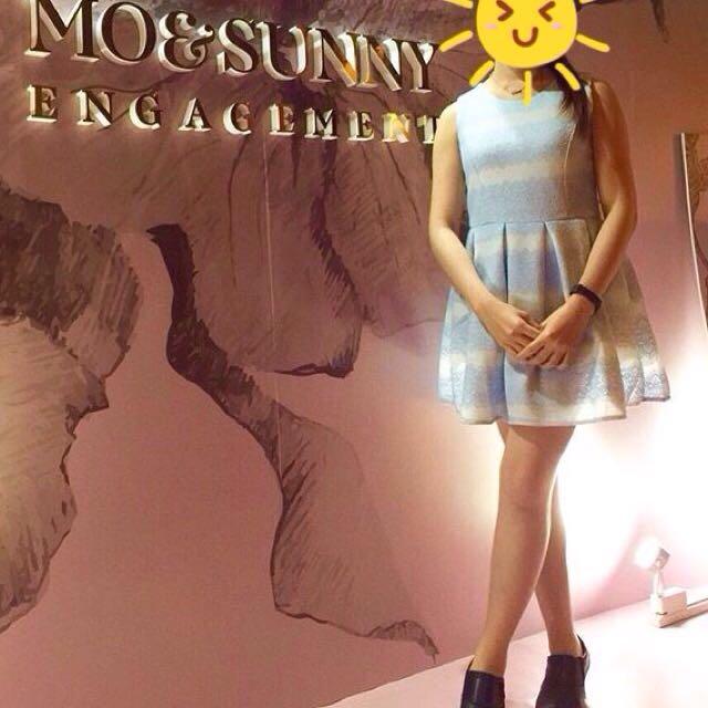 天藍小禮服洋裝