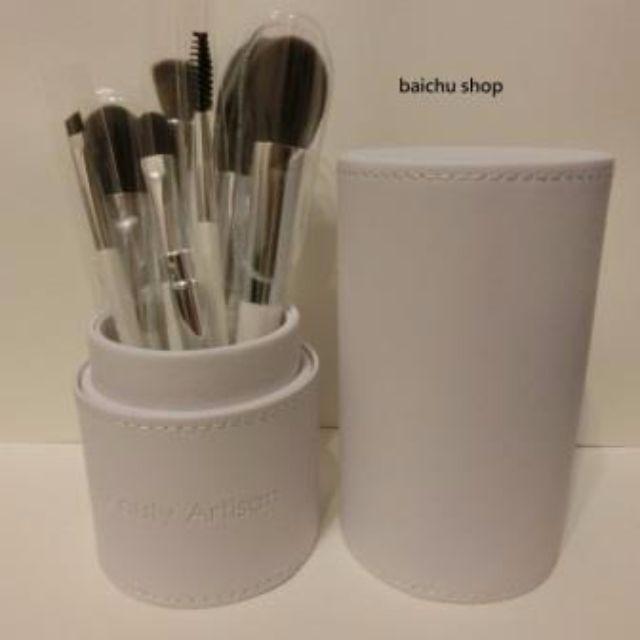 ★ ╦ 預購 ╦ ★Beauty Artisan 美麗工匠 刷具 化妝刷具組 + 質感皮桶 超值優惠價! 純淨白