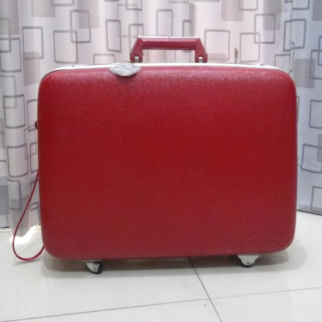 古著 復古 紅色喜氣行李箱