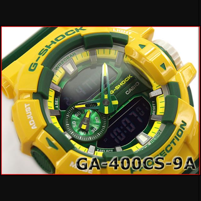 6f8d520922dca Authentic Brand New Casio G-Shock GA-400CS-9A Crazy Color Green ...
