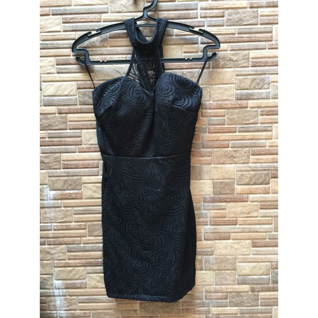 Black Halter Bodycon Dress
