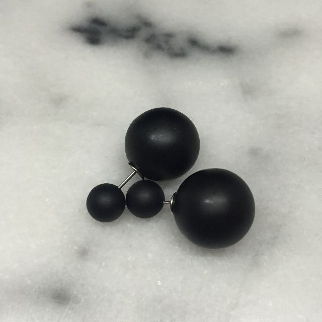 Black Tribul Double-sided Earrings