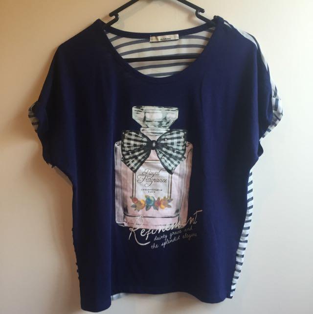 Blue Perfume Printed T-Shirt