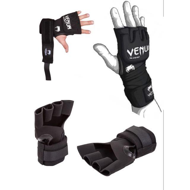 BNIP Venum Kontact MMA Gel Pro Wraps ( Black )