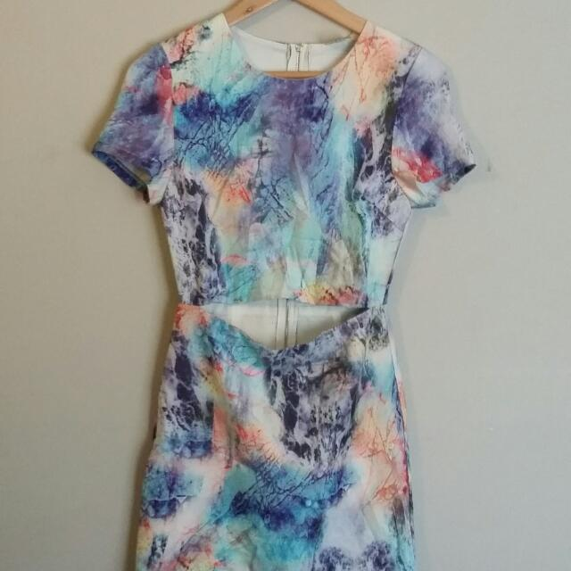 Boutique Cut Out Short Sleeve dress Size 8