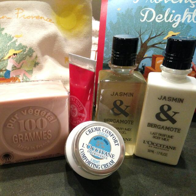 LOCCITANE Travelling Body Skin Care Pack Brand New!