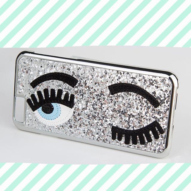 Chiara Ferragni Sequins Big Blinking Eyes Phone Case