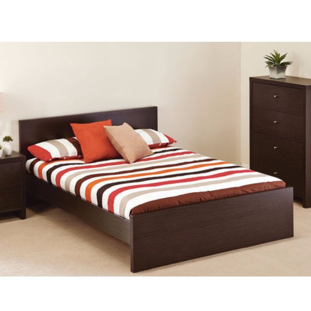 AVOCA Bed Mocha Brown- Move Out Sale DEAL !! Price Includes PROSTHETIC Brand New Mattress