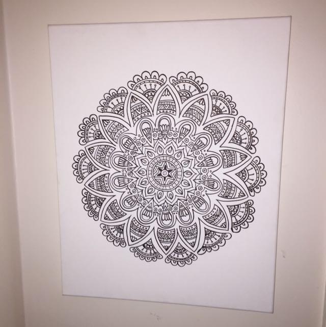 Hand-drawn Wall Hanging