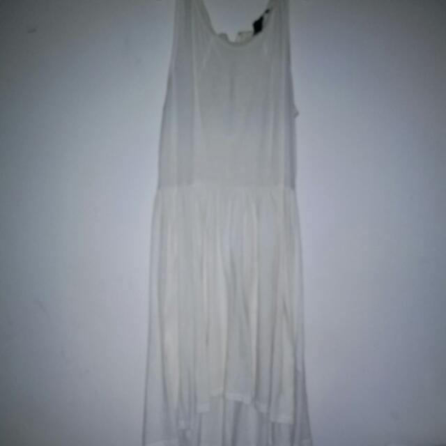 H&m White Dress Size:small