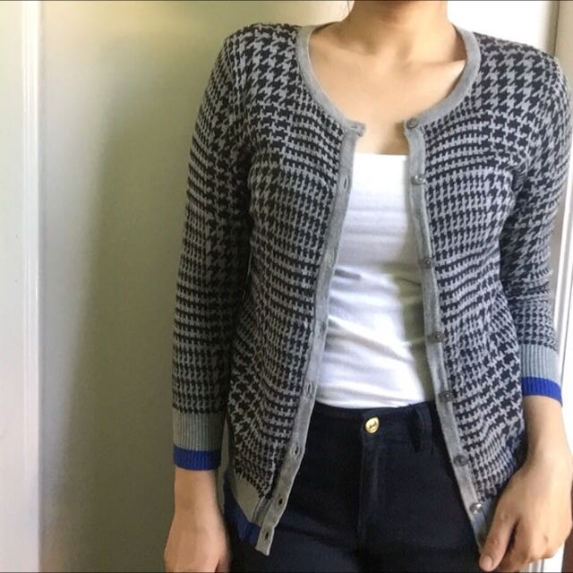Houndstooth Patterned Sweater