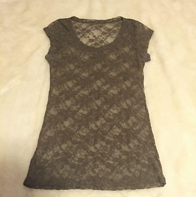 Lace T-shirt Size Small