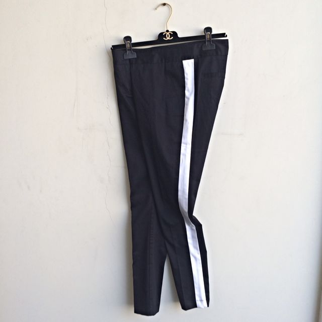 Lazada: Black Striped Pants