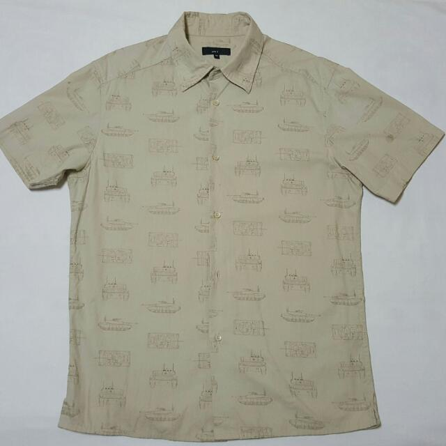 NET 短袖襯衫 二戰戰車圖案