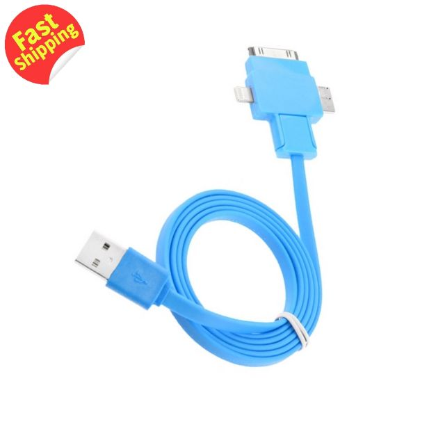 Noodle Style Multi-functional Data Sync & Power Charge TPE USB Cable