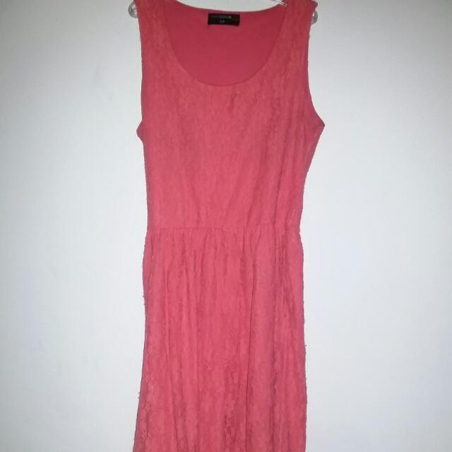 Orange Lace Dress Size:small