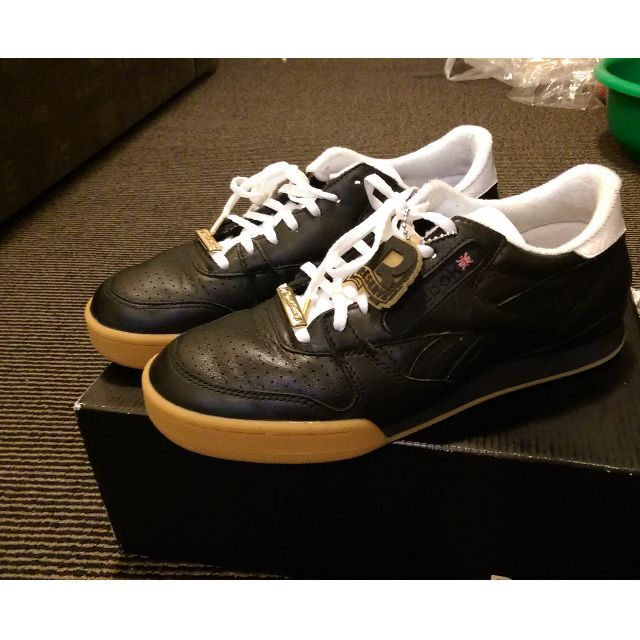 Packer Shoes X Reebok Collaboration (Phase 1 Pro, Black Leather, New)