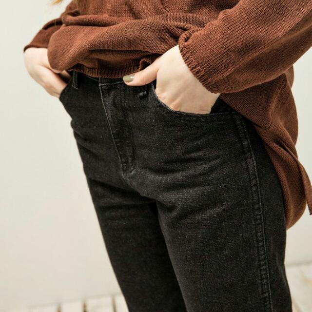 pazzo 抽鬚直筒牛仔褲
