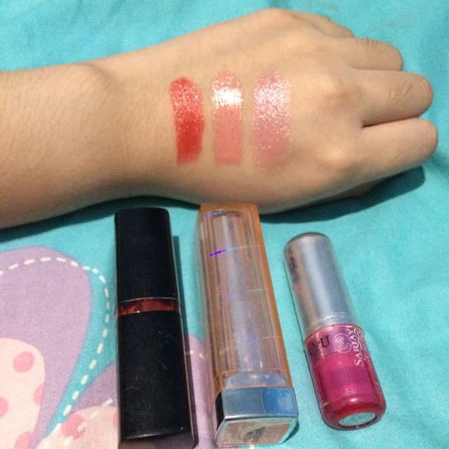 ALL Lipstick Maybelline & Sariayu