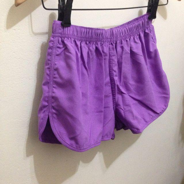 紫色運動短褲S號