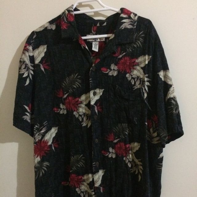 Short Sleeve Flower Button Up SIZE SMALL