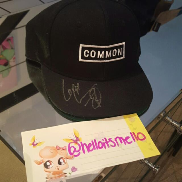 Signed Cap Snapback By Common