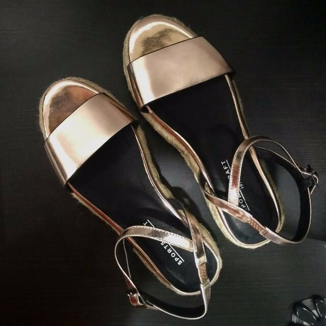 Sportscraft Rose Gold Leather Sandals