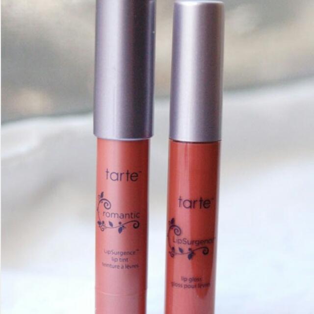 Tarte Lipsurgence Lip Tint (romantic) And Lip Gloss In Visionary