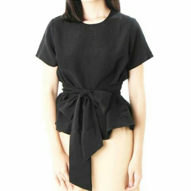 Tied Blouse Black