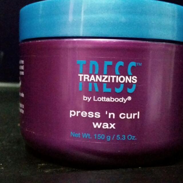 Tress Tranzition Press 'n Curl Wax