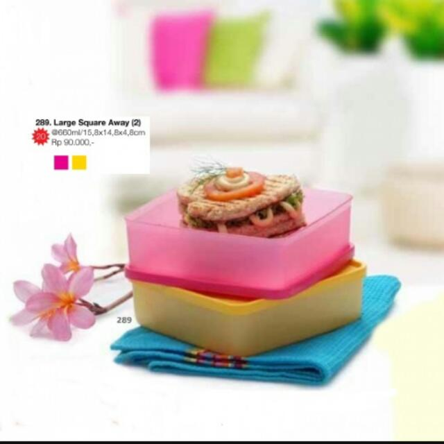 Tupperware Large Square Away (2)