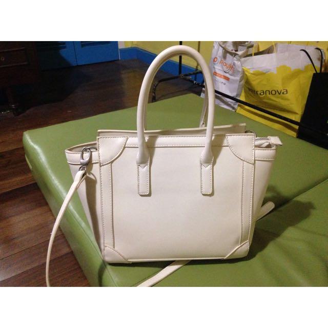 Zalora White Sling/Hand Bag