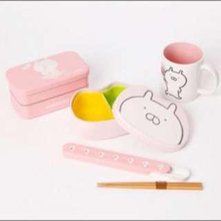 9/5-10日本代購Usamaru兔丸粉紅療癒便當盒