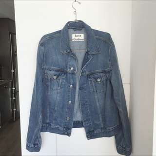 ACNE STUDIOS WHO MID VIN JEAN JACKET SIZE 52