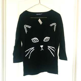F21 Cat Sweater