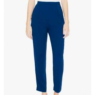 American Apparel Crepe Pants In Blue