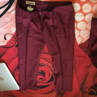 Qatar Airways Uniform Maroon Pants