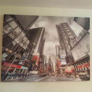 Canvas Photo Of Times Square In NYC