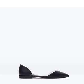 Zara Black D'orsay Flats Size 6