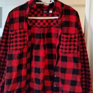 Red Plaid BDG Shirt