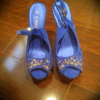 Seude Royal Blue Pumps