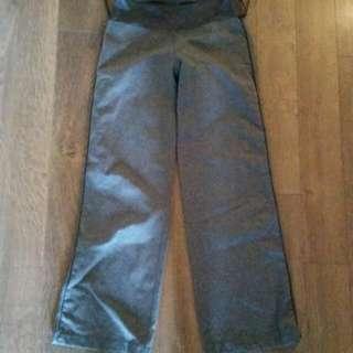 Grey Lulu Wide Leg Pants Size 8